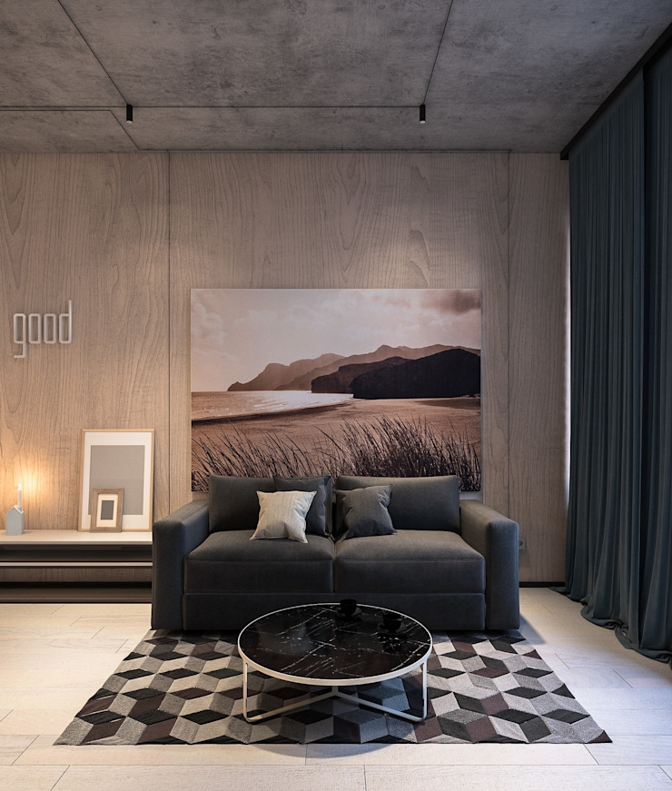Cuartos de estilo minimalista de Zikzak architects Minimalista