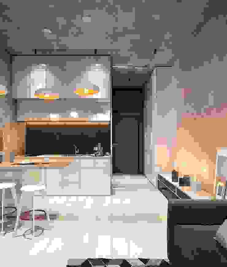 Cuisine minimaliste par Zikzak architects Minimaliste