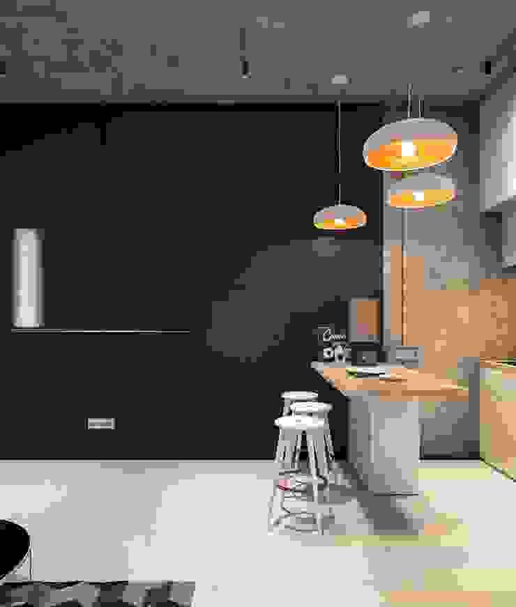 Cocinas de estilo minimalista de Zikzak architects Minimalista