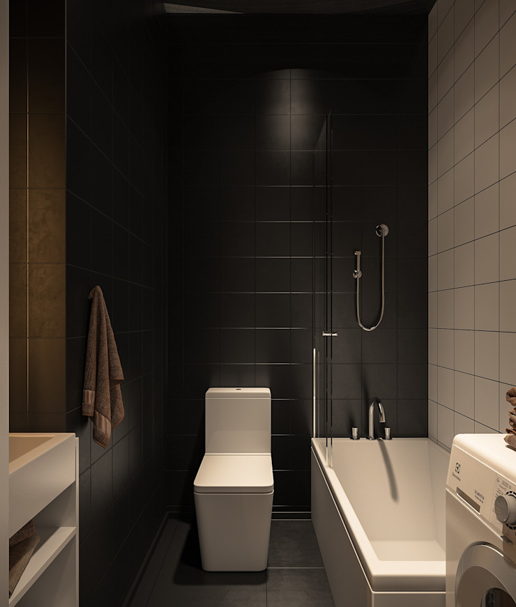 Baños de estilo minimalista de Zikzak architects Minimalista