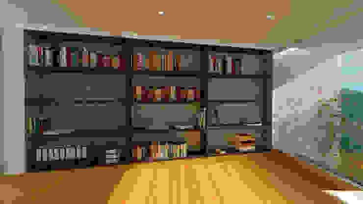 Interior Biblioteca Estudios y despachos de estilo moderno de Studio 21.11 Moderno