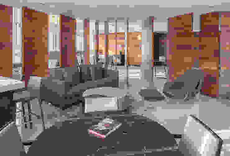 Departamento WK Concepto Taller de Arquitectura Salas multimedia modernas Gris