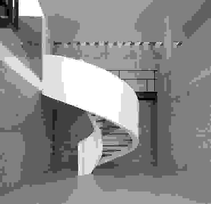 Cinta Chetecortés Vestíbulos, pasillos y escalerasEscaleras Concreto Blanco