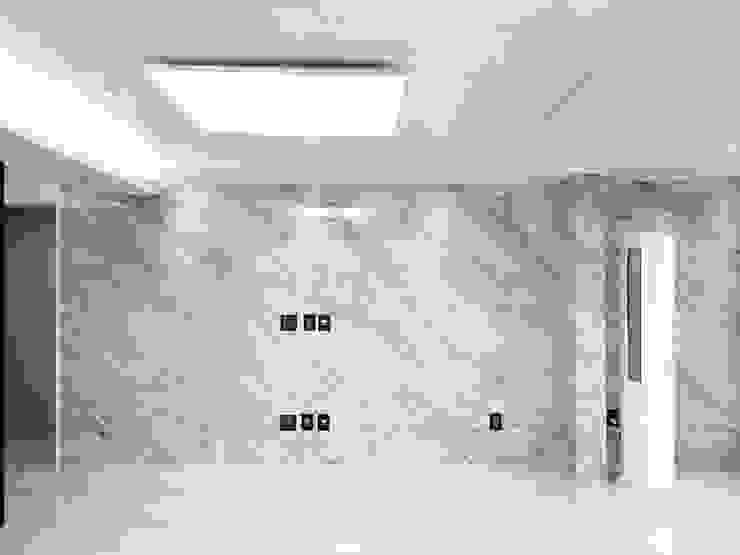 자양 한화꿈에그린 / 33평형 아파트 인테리어 모던스타일 거실 by 오락디자인 모던 대리석