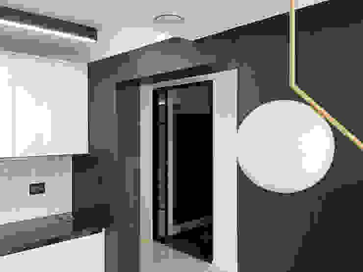 자양 한화꿈에그린 / 33평형 아파트 인테리어 모던스타일 주방 by 오락디자인 모던 금속