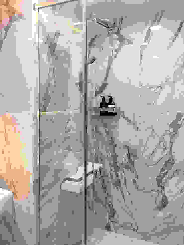 자양 한화꿈에그린 / 33평형 아파트 인테리어 모던스타일 욕실 by 오락디자인 모던 타일