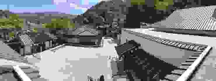 整改後園區中庭與坪林山勢 根據 薛晉屏建築師事務所