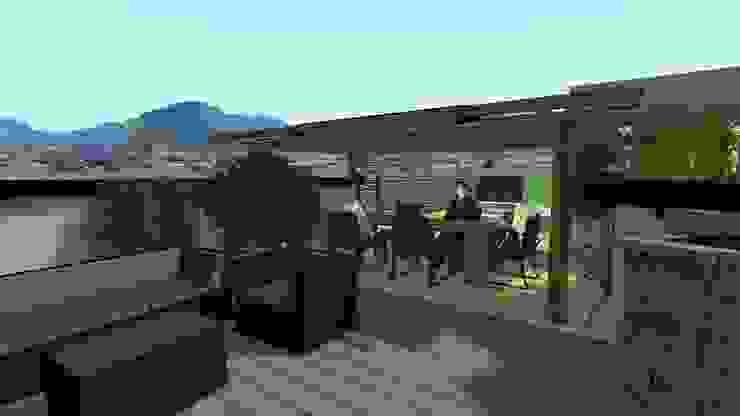 Terrace Vivai Toffoli Balcone, Veranda & Terrazza in stile moderno
