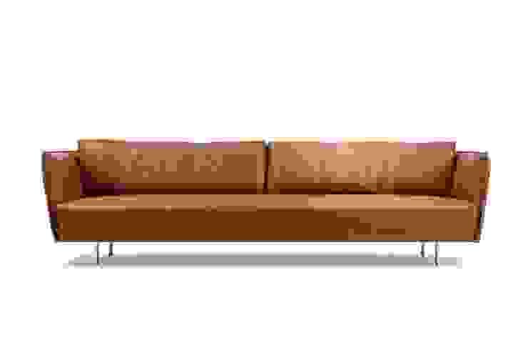 VIC sofa : modern  door MOOME, Modern Leer Grijs