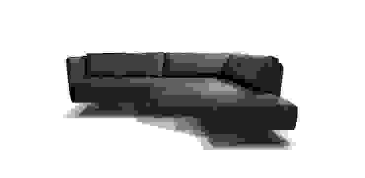 VIC sofa met draai-element: modern  door MOOME, Modern Textiel Amber / Goud