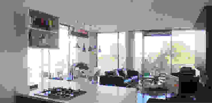 Remodelación Apartamento Echeverry Salas de estilo minimalista de Contrafuerte Minimalista