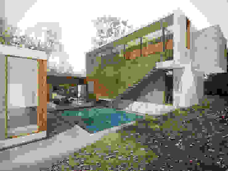 Casa Caracolí Casas modernas de Contrafuerte Moderno