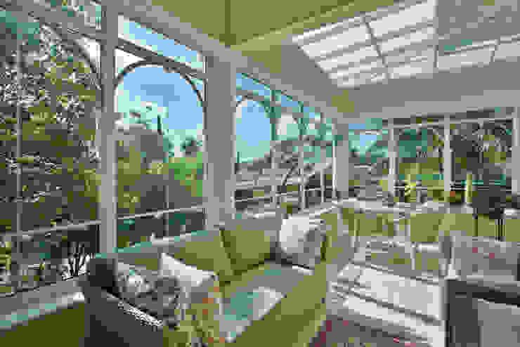 Balcon, Veranda & Terrasse classiques par Eustáquio Leite Arquitetura Classique