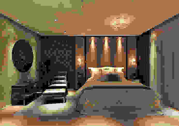Dormitorios modernos de Flávia Kloss Arquitetura de Interiores Moderno Tablero DM