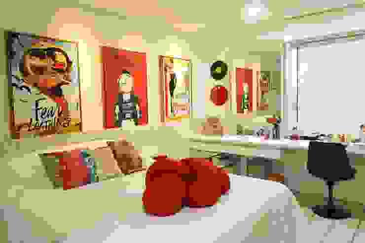 غرفة نوم تنفيذ Camila Araújo Arquitetura e Interiores, حداثي