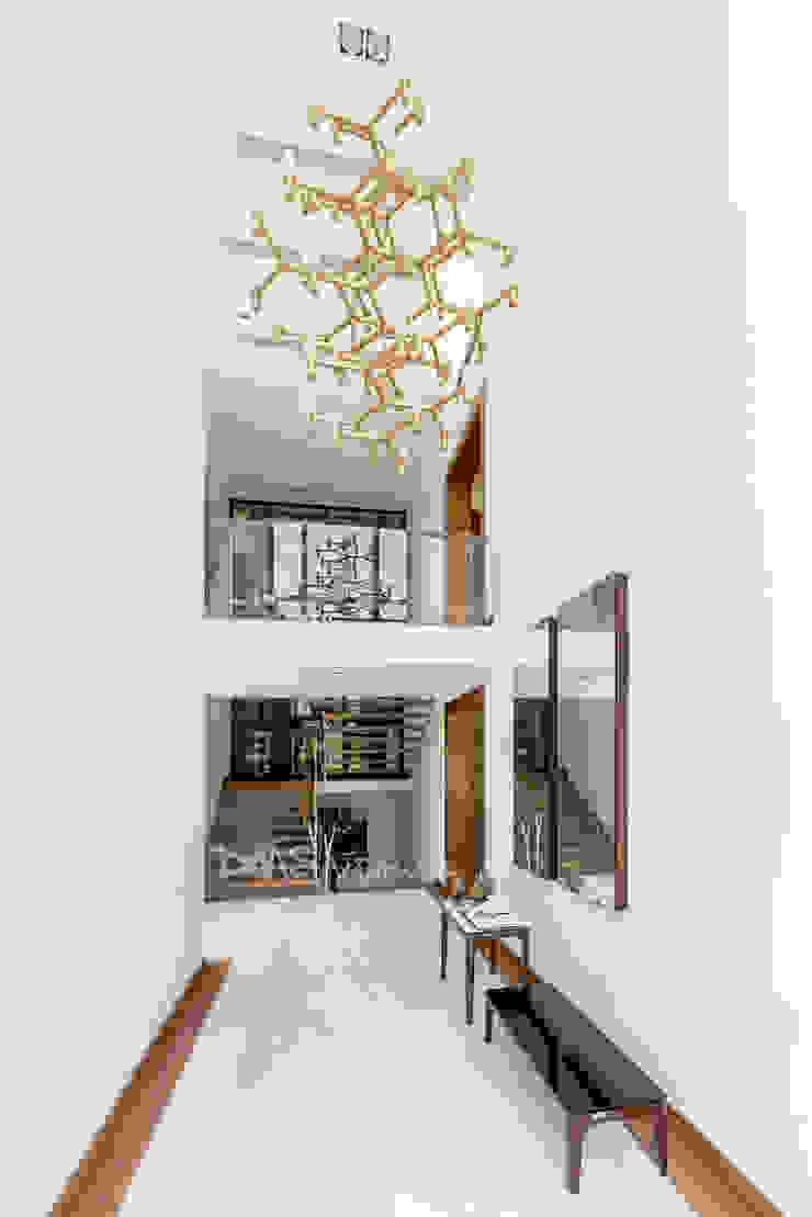 INGRESO PRINCIPAL Pasillos, vestíbulos y escaleras modernos de DMS Arquitectas Moderno