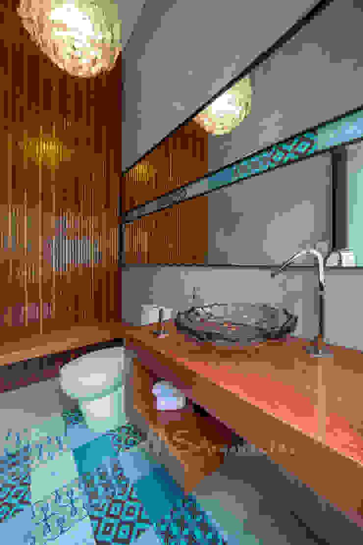 BAÑO TERRAZA Baños modernos de DMS Arquitectas Moderno