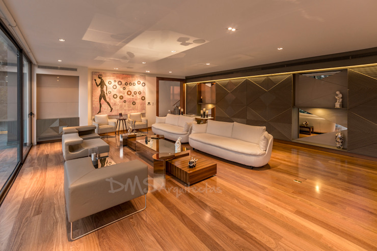 SALA: Salas / recibidores de estilo  por DMS Arquitectas,