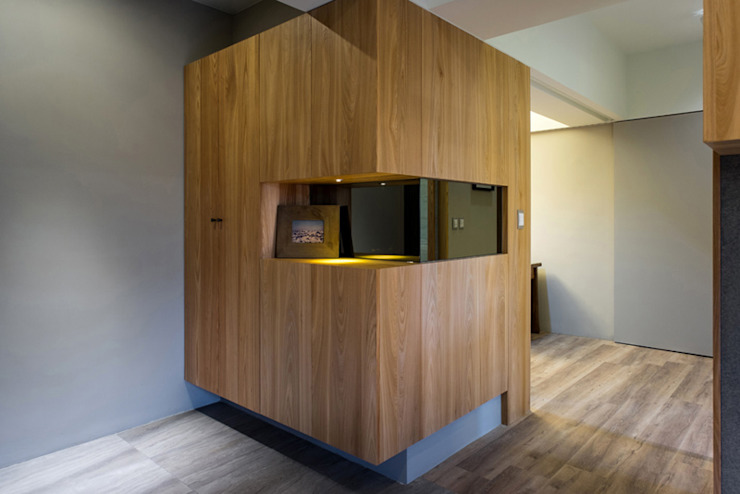 玄關 斯堪的納維亞風格的走廊,走廊和樓梯 根據 果仁室內裝修設計有限公司 北歐風