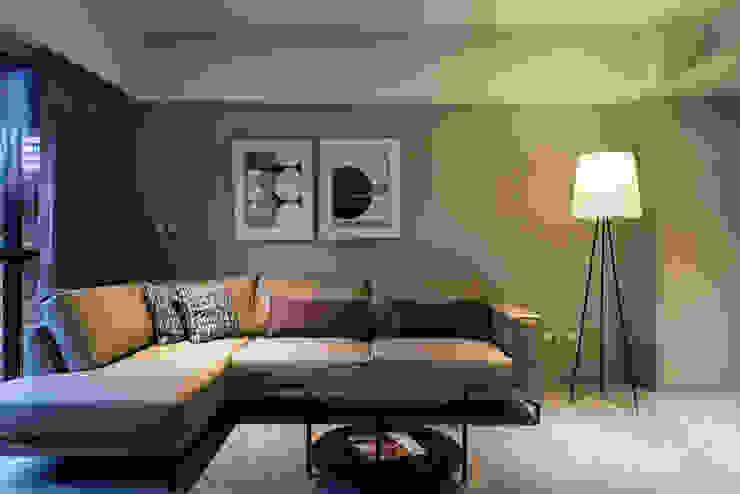 大地色系客廳 根據 果仁室內裝修設計有限公司 北歐風
