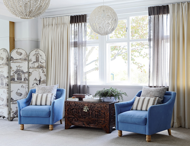 Main Bedroom Natalie Bulwer Interiors Classic style bedroom Blue
