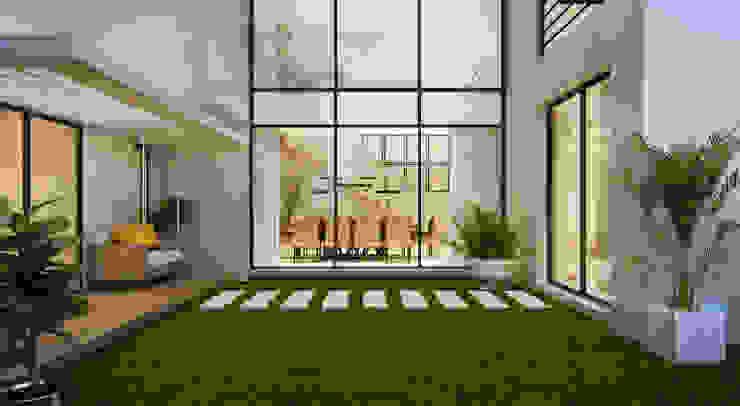 Jardines de estilo moderno de Flávia Kloss Arquitetura de Interiores Moderno Concreto