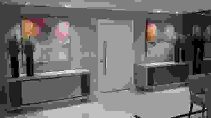 Hall de Entrada Apartamento Flávia Kloss Arquitetura de Interiores Corredores, halls e escadas modernos MDF Bege