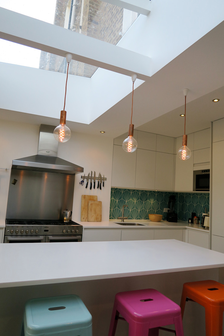 Kitchen rooflight Modern Kitchen by A2studio Modern