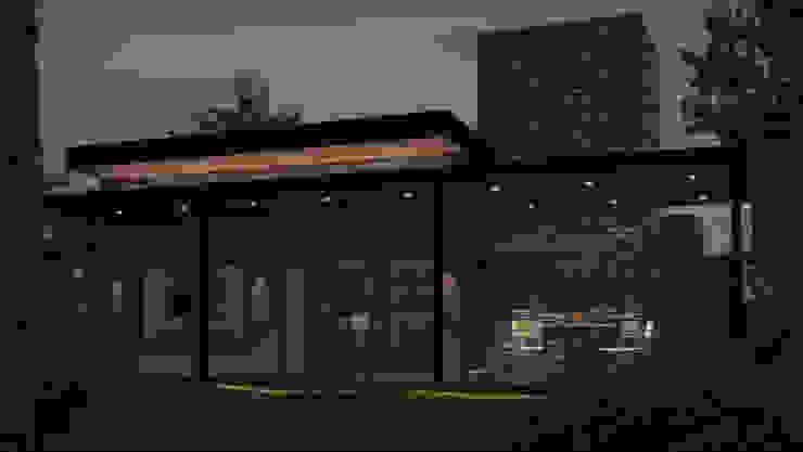Nocturno solo con luces decorativas Casas estilo moderno: ideas, arquitectura e imágenes de OX Render Moderno