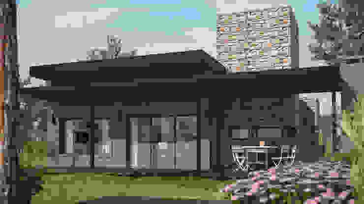 Exterior de día Casas estilo moderno: ideas, arquitectura e imágenes de OX Render Moderno