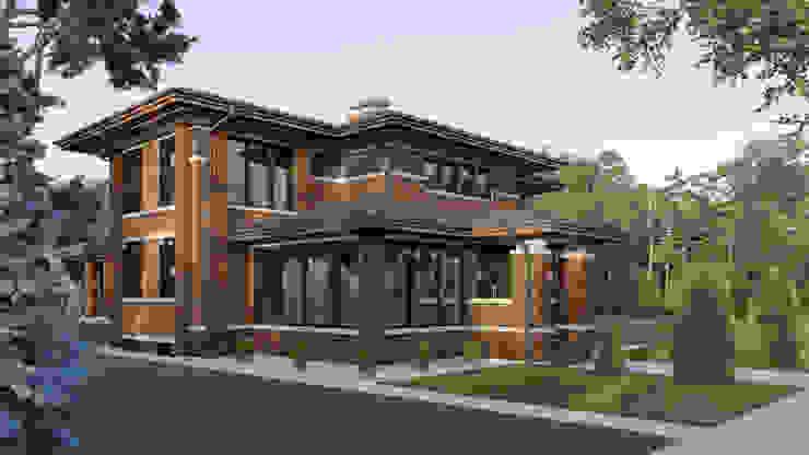 Casas de estilo clásico de Архитектурное бюро Art&Brick Clásico