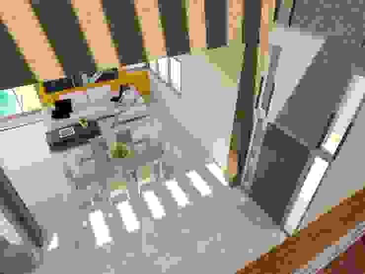 Nowoczesny korytarz, przedpokój i schody od Gastón Blanco Arquitecto Nowoczesny