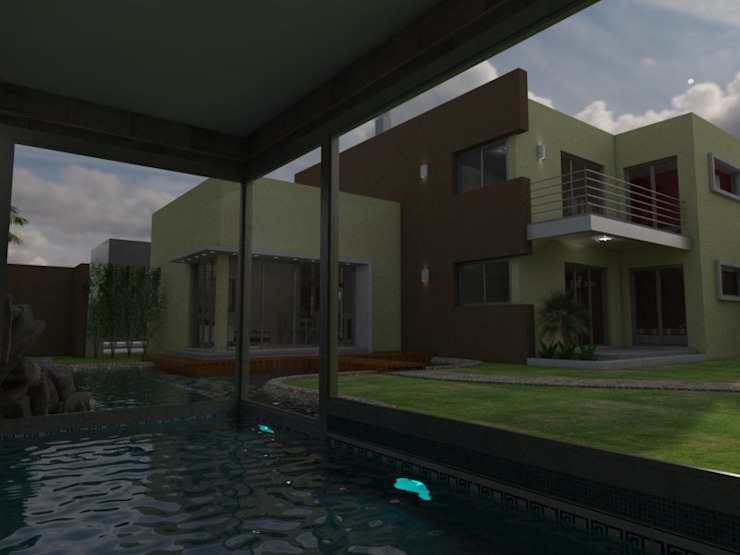 Nowoczesny basen od Gastón Blanco Arquitecto Nowoczesny