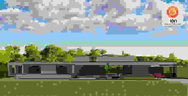 CASA DE UN COMPADRE Casas de estilo minimalista de ION arquitectura SAS Minimalista