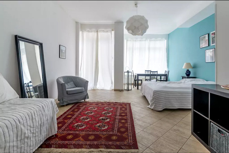 غرفة نوم تنفيذ Smart Travel - Furnished Apartments in Berlin, حداثي