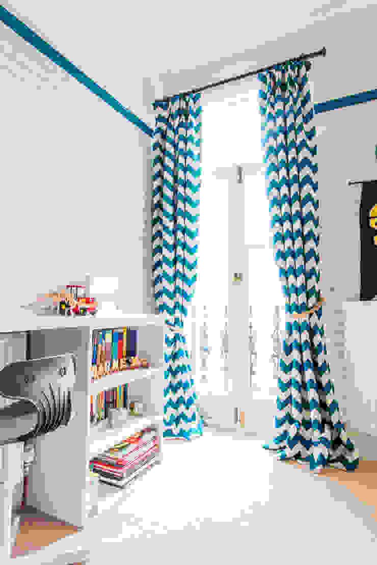 modern  von fleur ward interior design, Modern Textil Bernstein/Gold