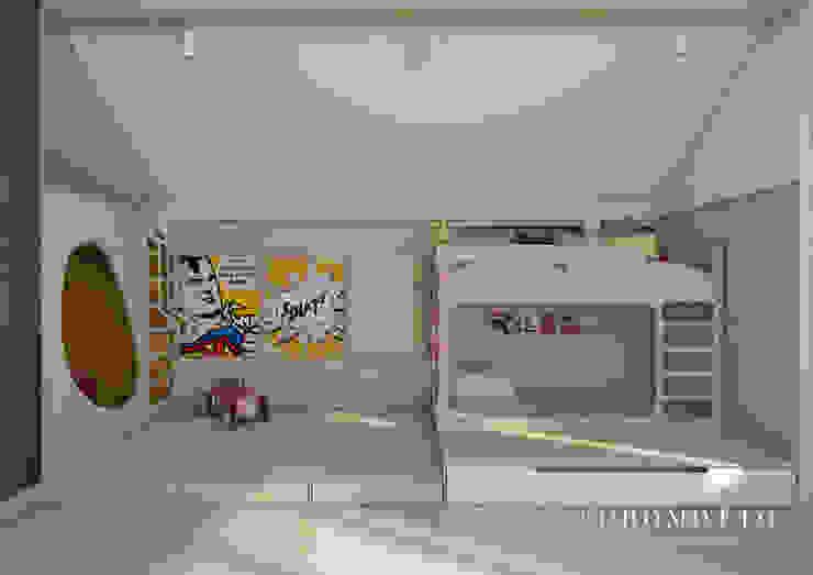 Coromotto Interior Design Kamar Bayi/Anak Gaya Eklektik