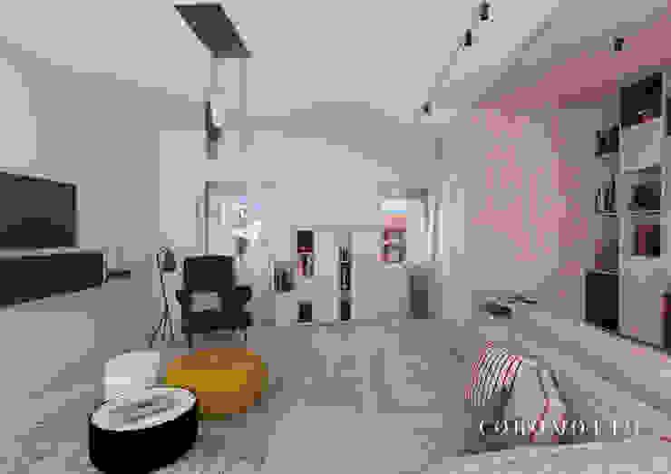 Coromotto Interior Design Ruang Keluarga Gaya Eklektik