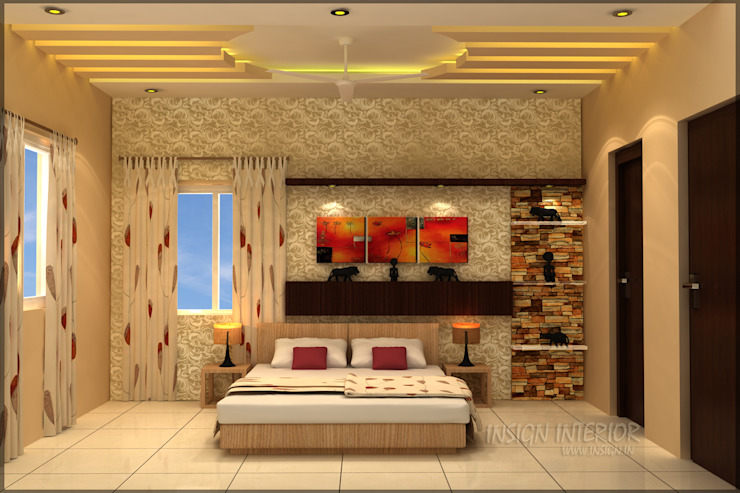 Mr. Praveen. Modern style bedroom by Insign Modern Engineered Wood Transparent