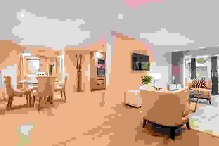 Sandbanks show apartment:  Living room by SMB Interior Design Ltd,