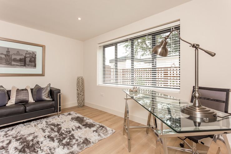 Sandbanks apartment:  Study/office by SMB Interior Design Ltd,