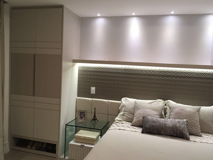 NW Arquitetura Modern style bedroom