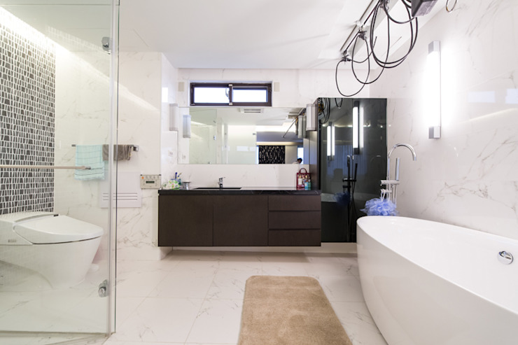 Baños de estilo minimalista de 果仁室內裝修設計有限公司 Minimalista