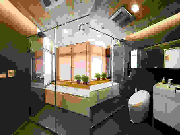Baños de estilo  de 果仁室內裝修設計有限公司