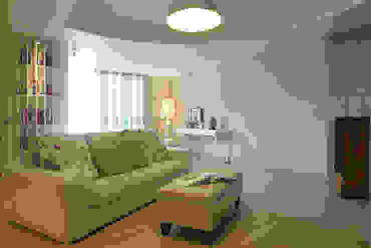 Salones de estilo moderno de 果仁室內裝修設計有限公司 Moderno