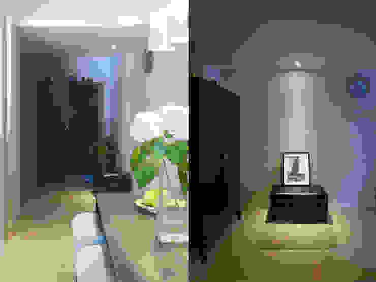 Pasillos, vestíbulos y escaleras de estilo moderno de 果仁室內裝修設計有限公司 Moderno