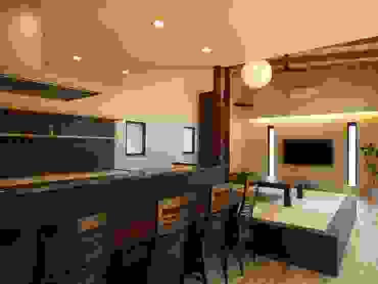 Phòng ăn phong cách chiết trung bởi ai建築アトリエ Chiết trung