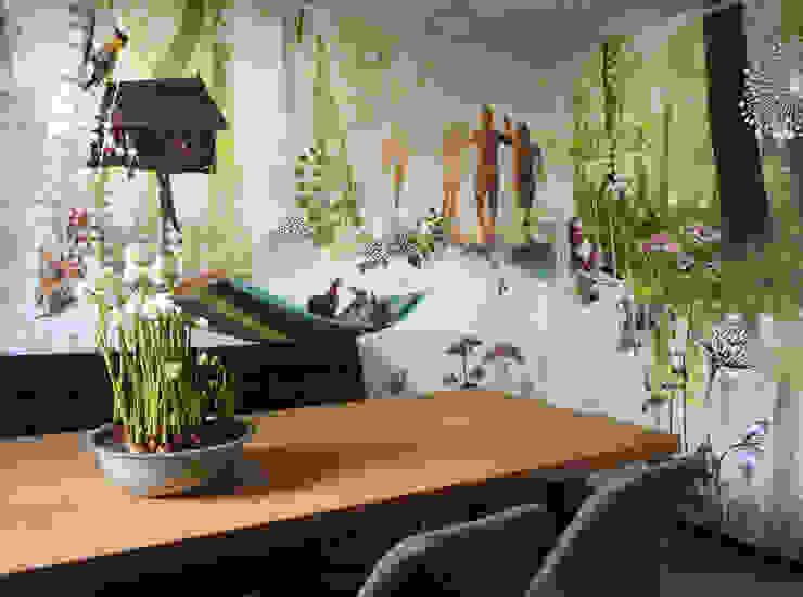kantoor van overige receptie medewerkers en spreekkamer inéén Moderne kantoor- & winkelruimten van INinterieurs Modern