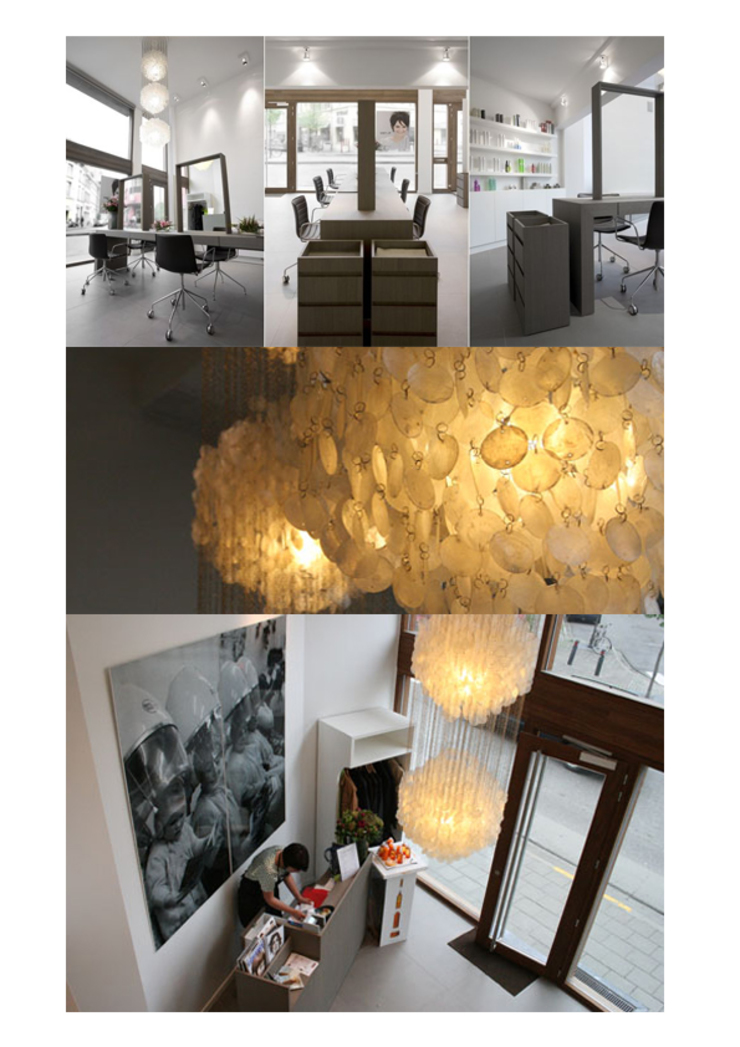 kapsalon Moderne winkelruimten van kb ontwerpbureau bvba Modern Hout Hout