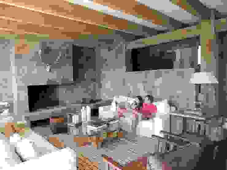 casa Balmaceda - Fontaine Livings de estilo moderno de David y Letelier Estudio de Arquitectura Ltda. Moderno
